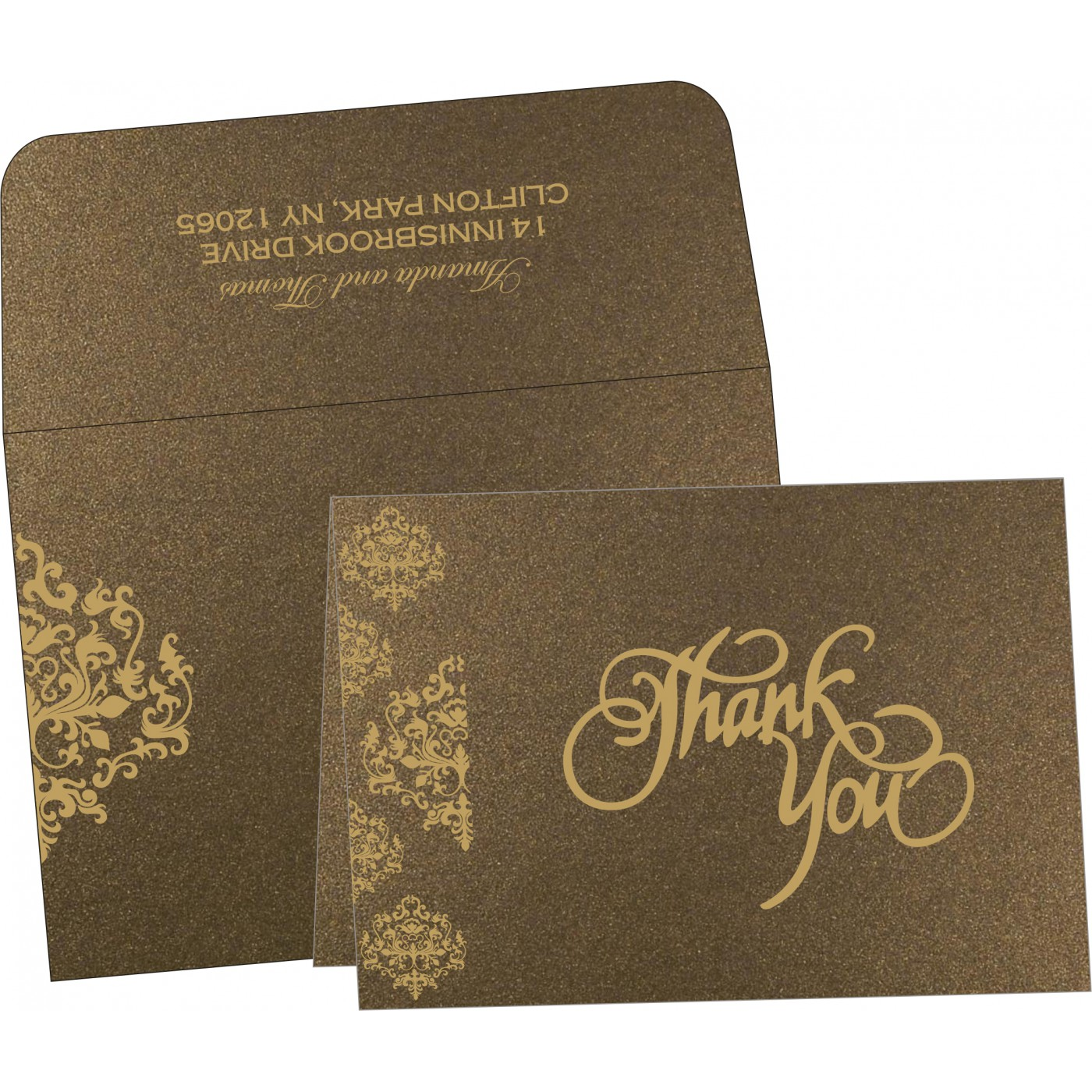 Thank You Cards : CTYC-8254F - IndianWeddingCards