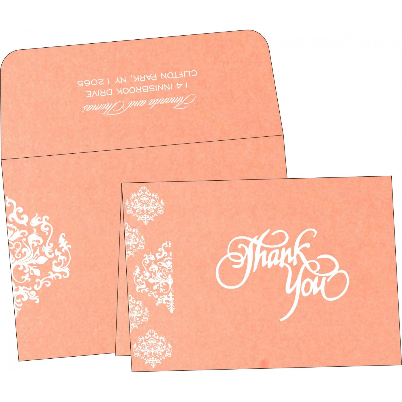 Thank You Cards : CTYC-8254G - IndianWeddingCards