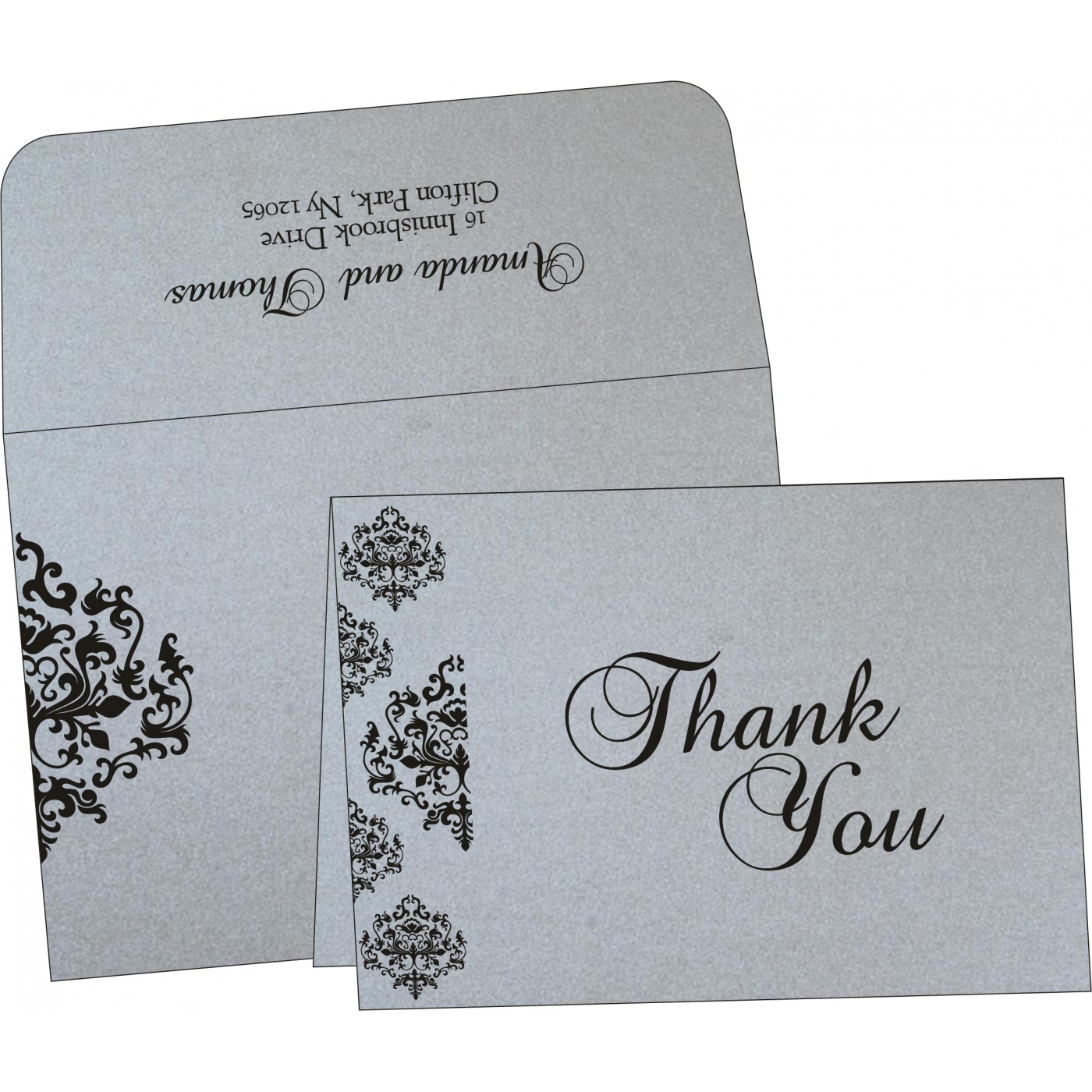 Thank You Cards : CTYC-8254H - IndianWeddingCards