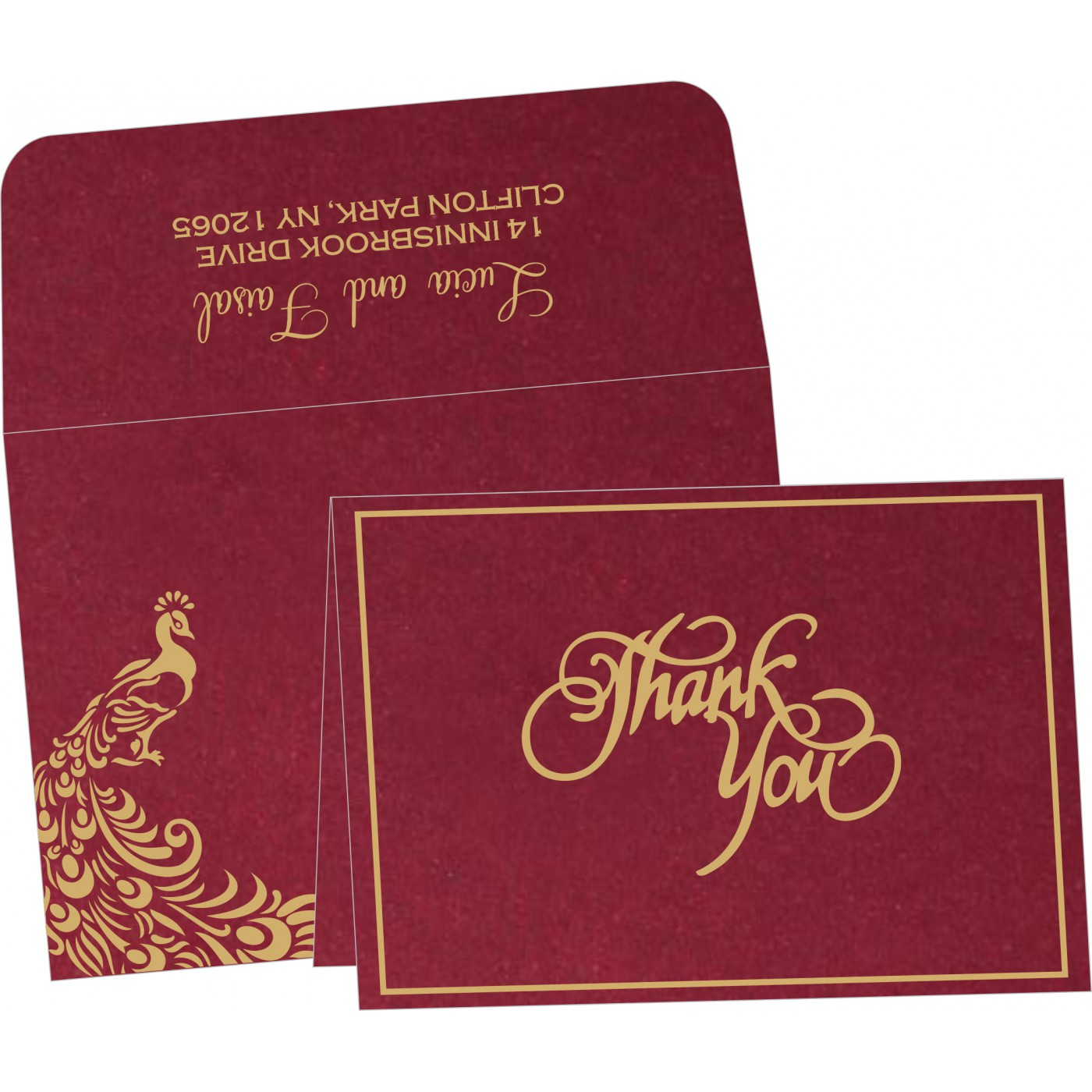 Thank You Cards : CTYC-8255A - IndianWeddingCards