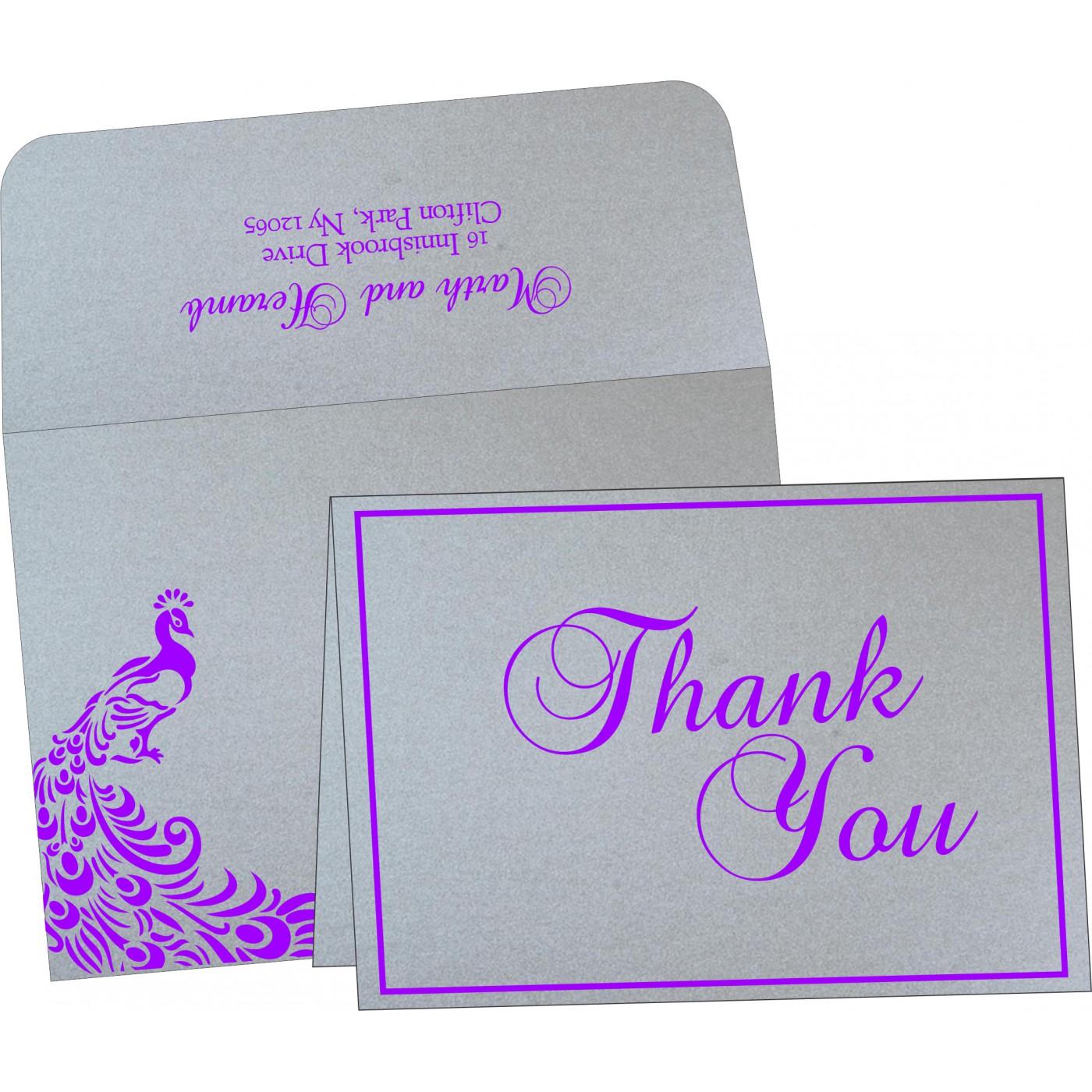 Thank You Cards : CTYC-8255C - IndianWeddingCards