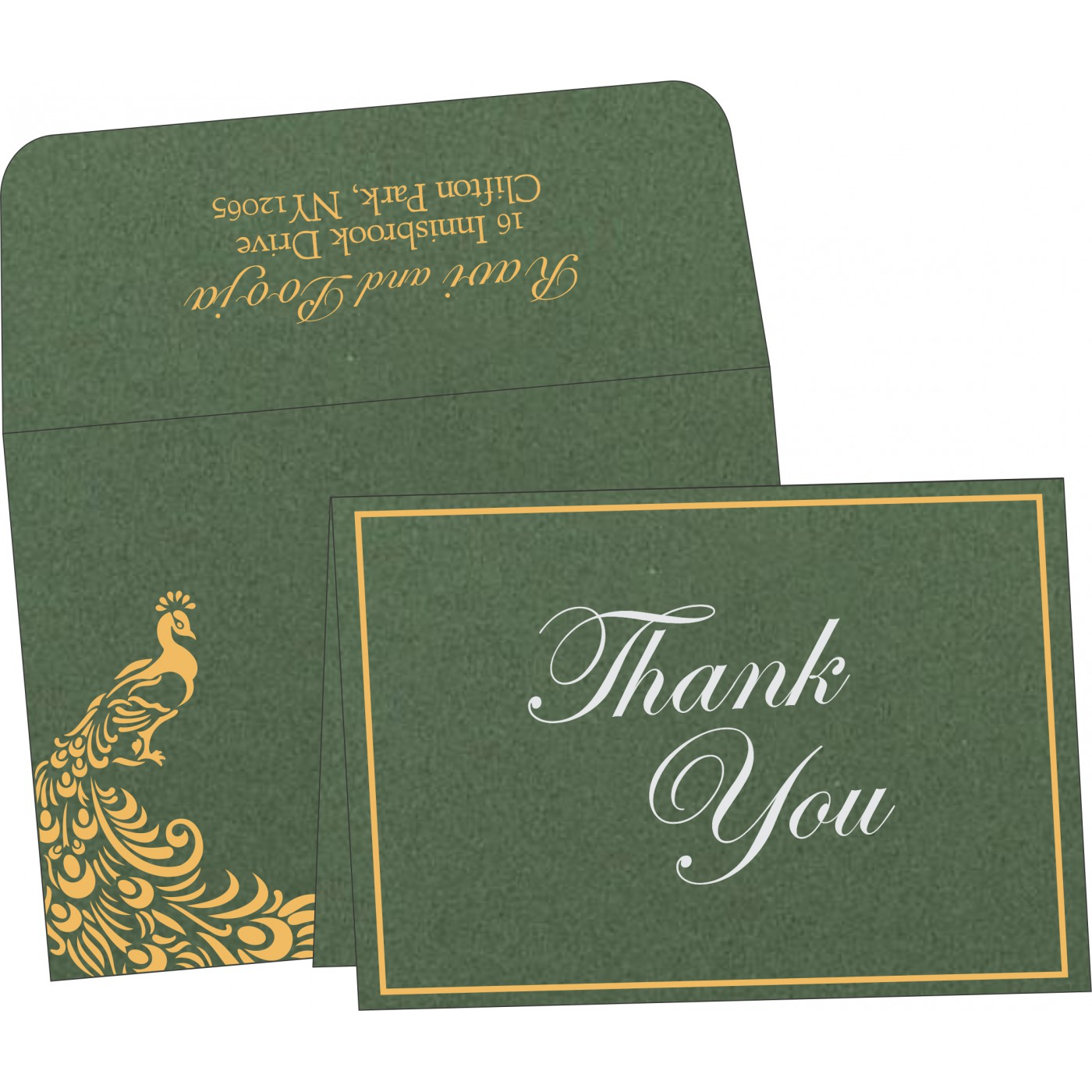 Thank You Cards : CTYC-8255D - IndianWeddingCards